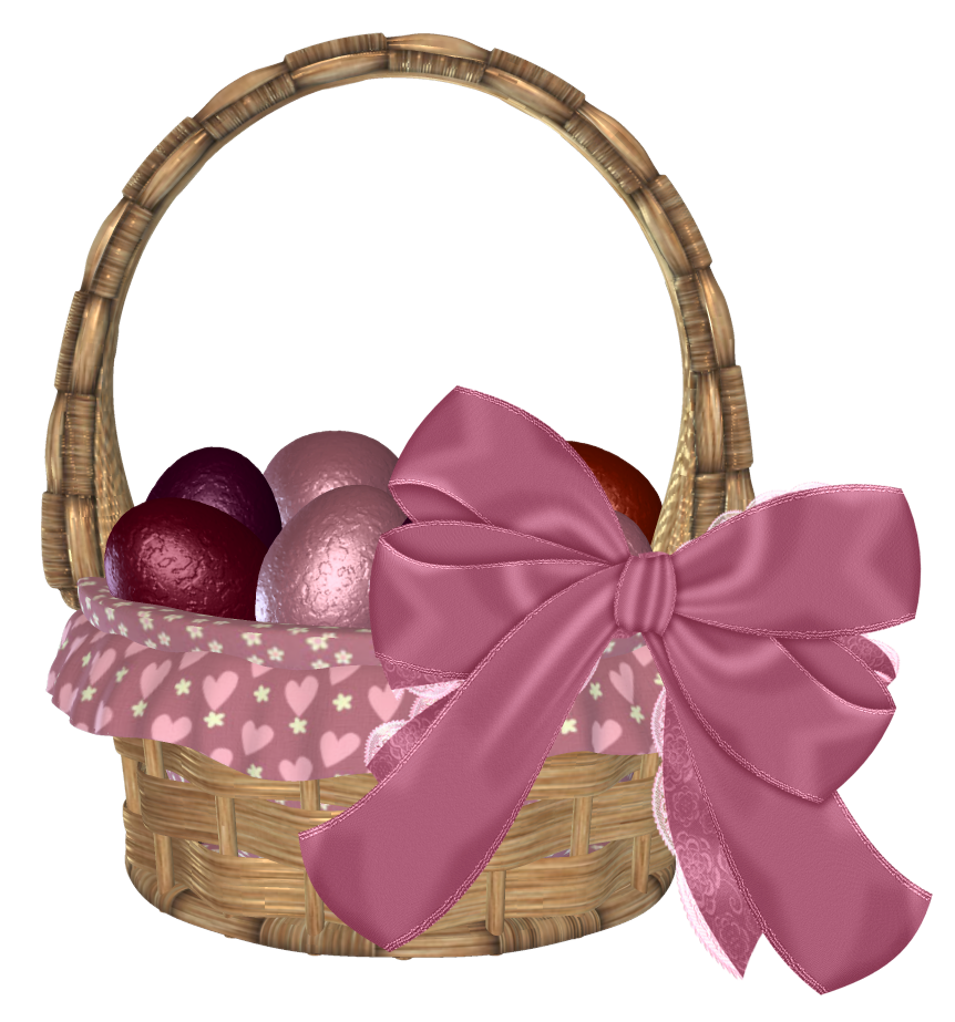 clip art black and white Easter with eggs and. Basket clipart bow.