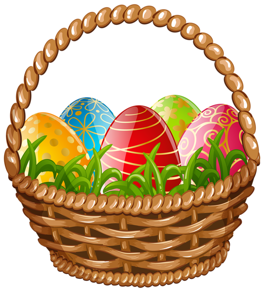 vector royalty free Easter egg png clip. Basket clipart bow.