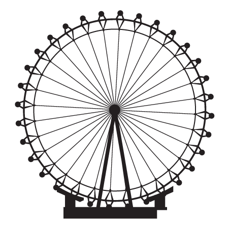 vector black and white library London eye drawing google. Guard clipart sketch