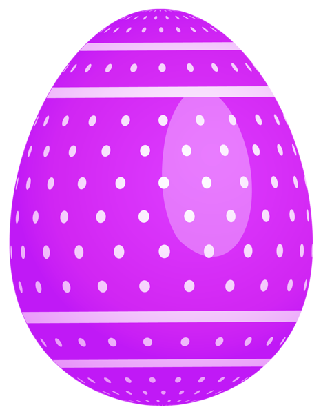 png black and white library Dotted easter egg png. Basket clipart purple.