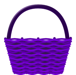 clip free download Cesta i royalty free. Basket clipart purple.