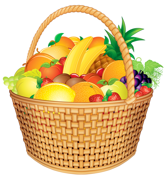 graphic free download Fruit png vector image. Pear clipart basket