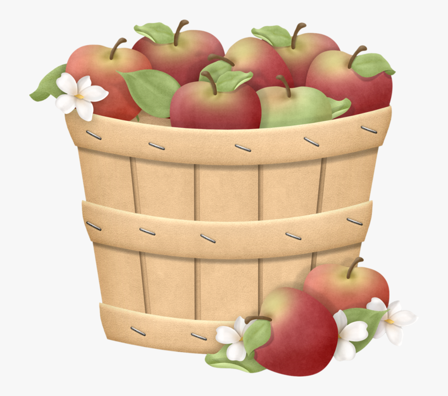 image library Barrel free cliparts on. Basket of apples clipart