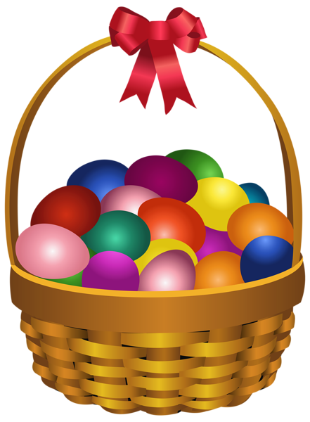 picture freeuse Easter Eggs in Basket Transparent PNG Clip Art Image