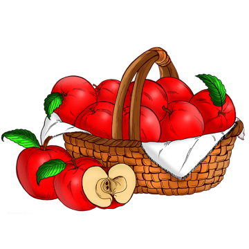 banner free download Basket of apples clipart. Png vectors psd and