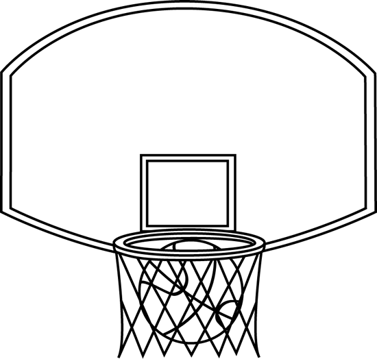banner royalty free download Black and white backboard. Basketball clip hoop clipart