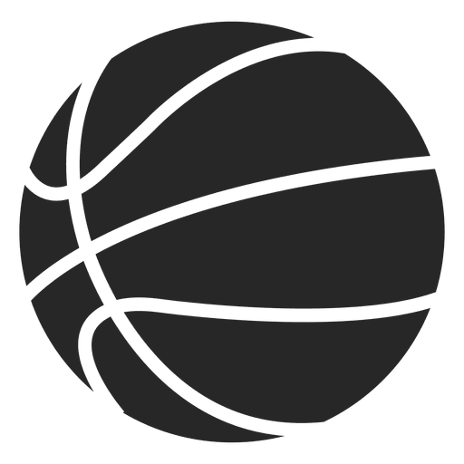 image royalty free library Vector emblem basketball. Ball silhouette at getdrawings