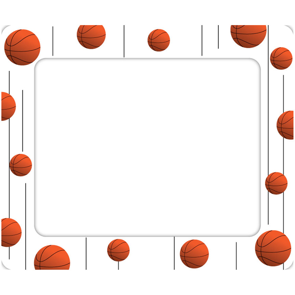 graphic transparent download Basketball border clipart. Free frame cliparts download