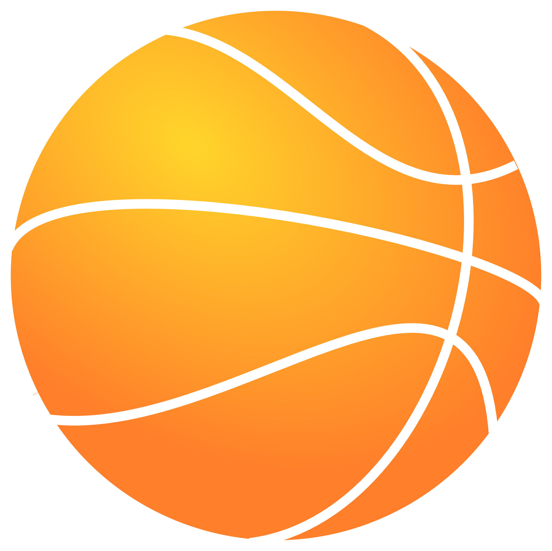 clipart free download Basketball clip. Outline of art orange