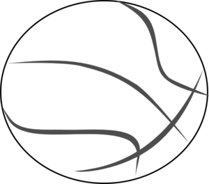 svg transparent library Basketball clip black and white. Outline art at clker