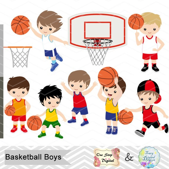 jpg free download Instant download digital clipart. Basketball clip boys
