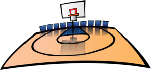 clipart royalty free Basketball clip cartoon. Court art at clker