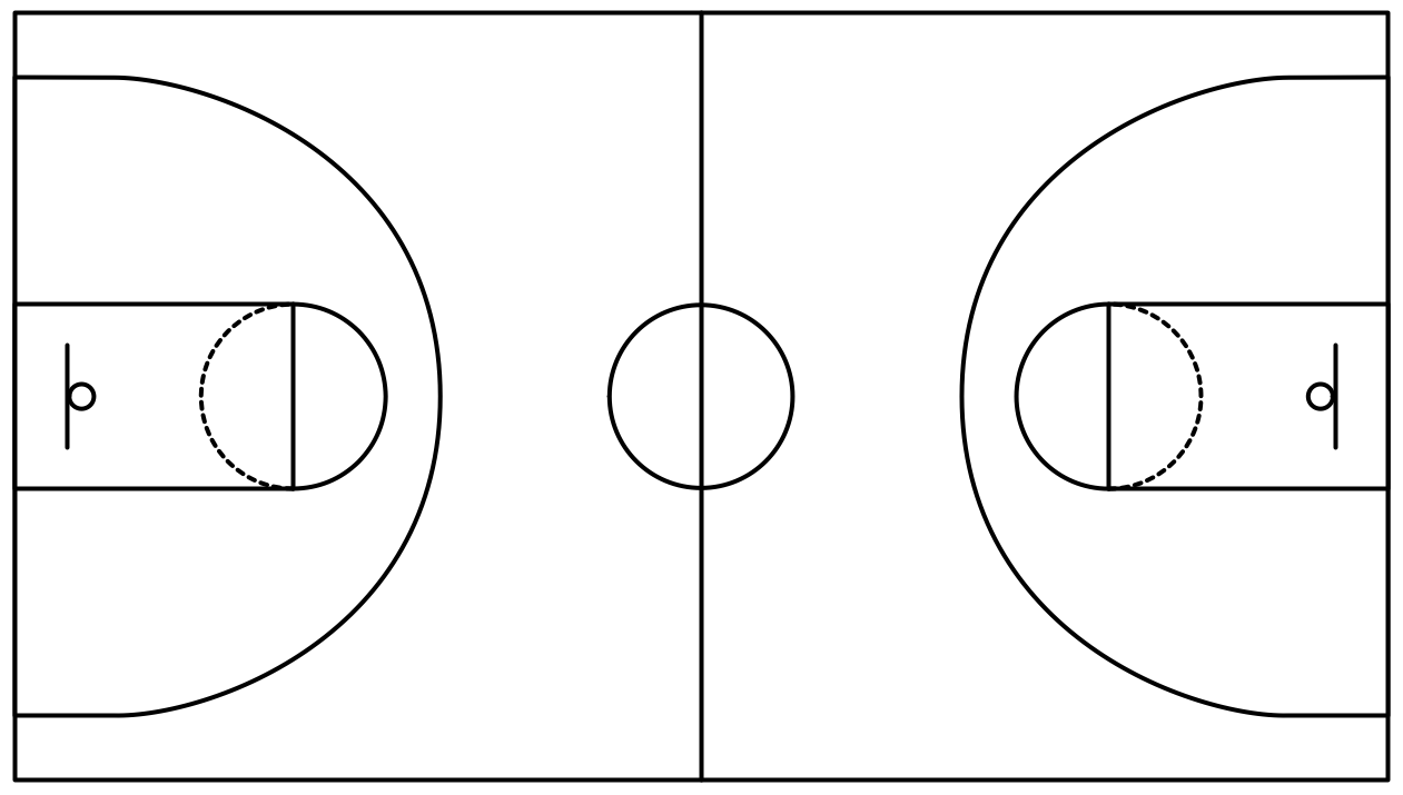 graphic black and white stock Basketball clip court. Png art library