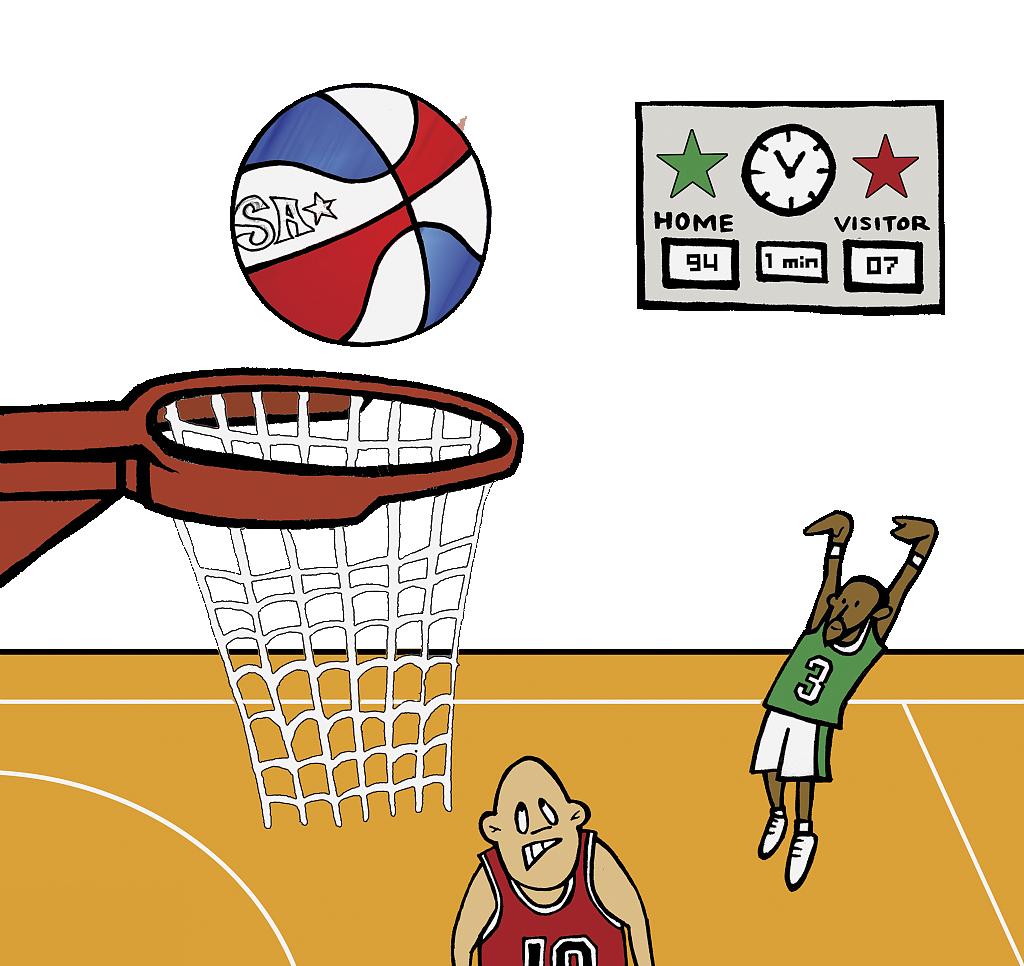 clipart library stock Cartoon animation art scoreboard. Basketball clip court