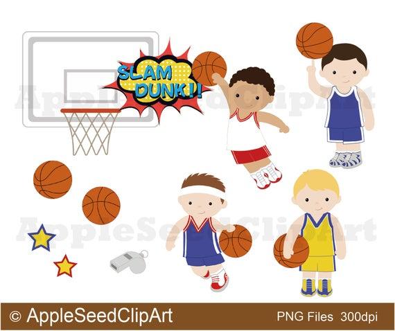 vector royalty free Basketball clip cute. Players digital art boys