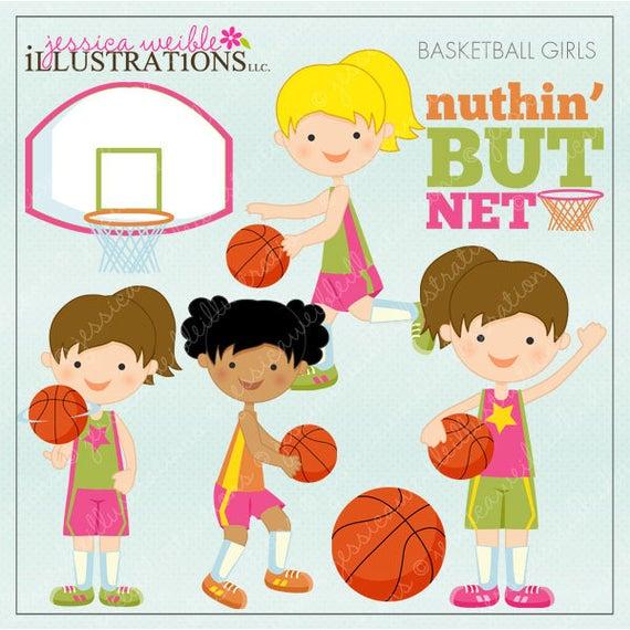 clip art free download Basketball clip cute. Girls digital clipart for