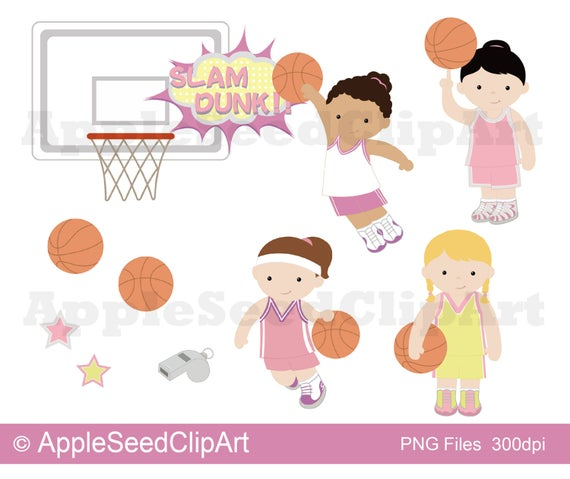 image royalty free download Players digital art little. Basketball clip cute