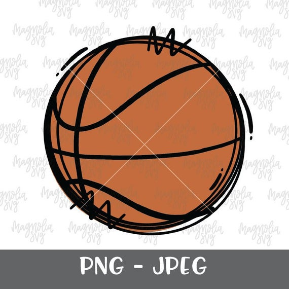 picture freeuse download Basketball clip file. Art hand drawn graphic