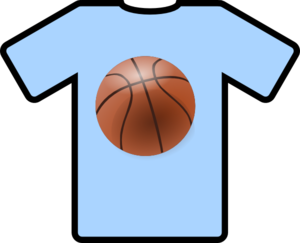 royalty free download Light blue shirt art. Basketball clip jersey