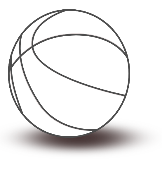 clip stock Black white px png. Basketball clip line art