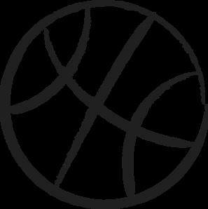 clip art freeuse download Art at clker com. Basketball clip outline