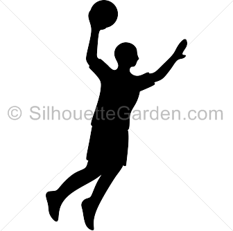 jpg library Basketball clip pdf. Player silhouette art download