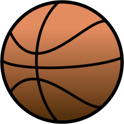 clip art black and white Basketball clip simple. Free art clipartix