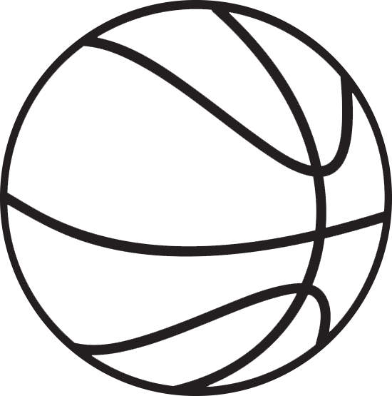 stock Basketball clip black and white.  collection of clipart