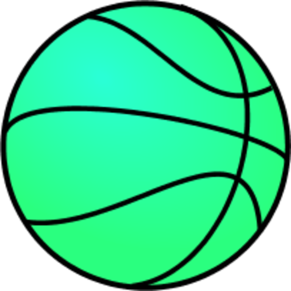 picture transparent stock Vector color basketball. Green clipart