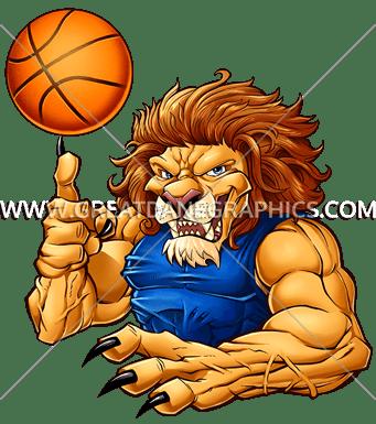 vector Lion clipart muscular. Basketball production ready artwork.