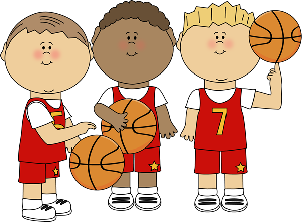 clip art black and white library Basketball clip game. Boys clipart
