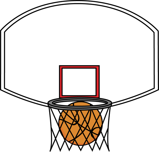 jpg transparent library Basketball Going Through Net Clipart