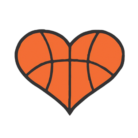 png freeuse stock Basketball Heart Decal