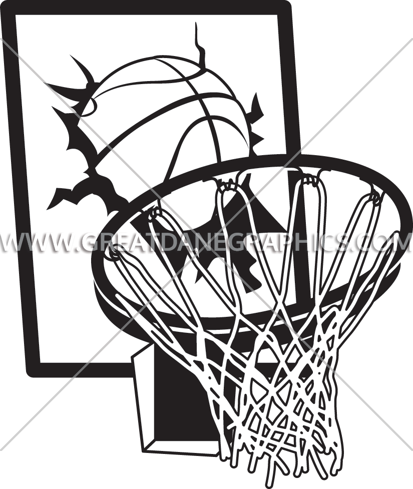 image free library Basketball Hoop Drawing at GetDrawings