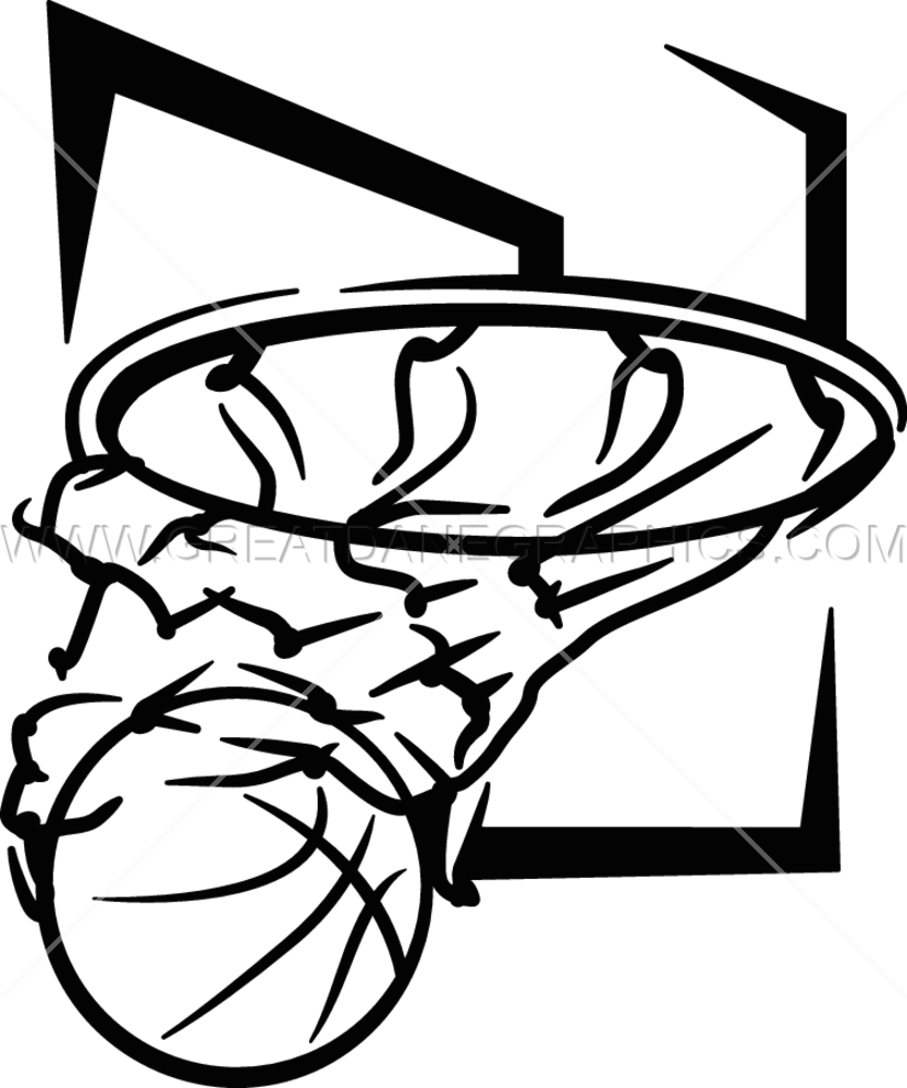 jpg stock Basketball Hoop Drawing at GetDrawings