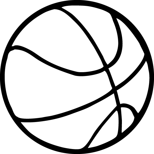 vector black and white download Basketball Line Drawing at GetDrawings