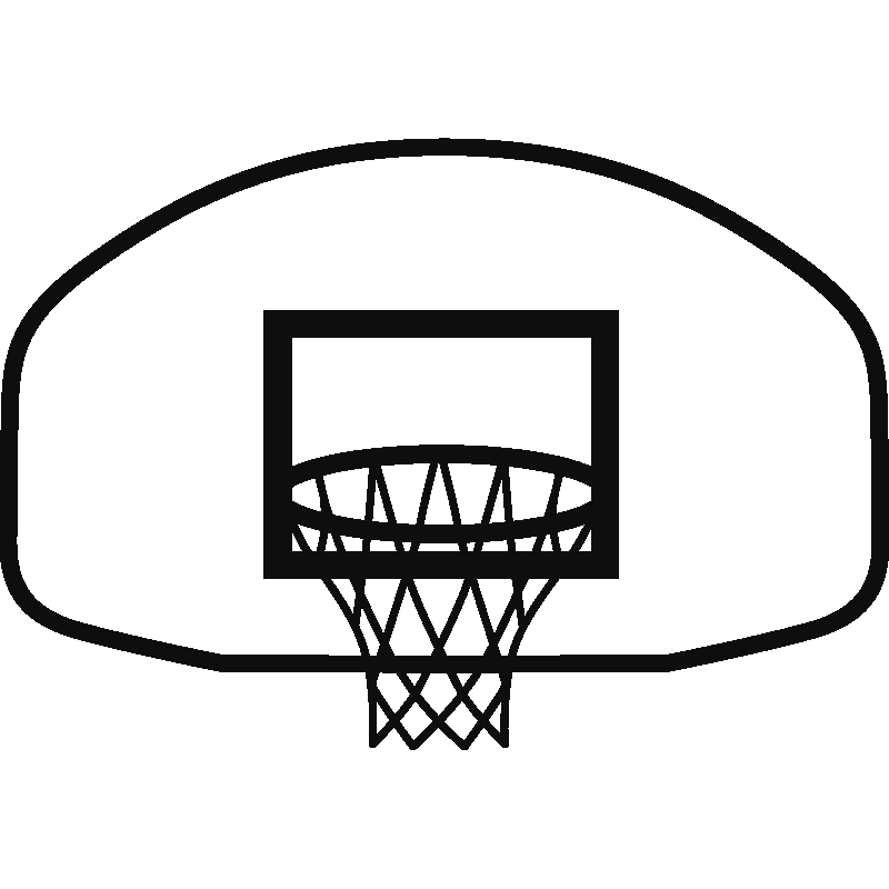 banner royalty free library basketball net clipart black and white #57724778