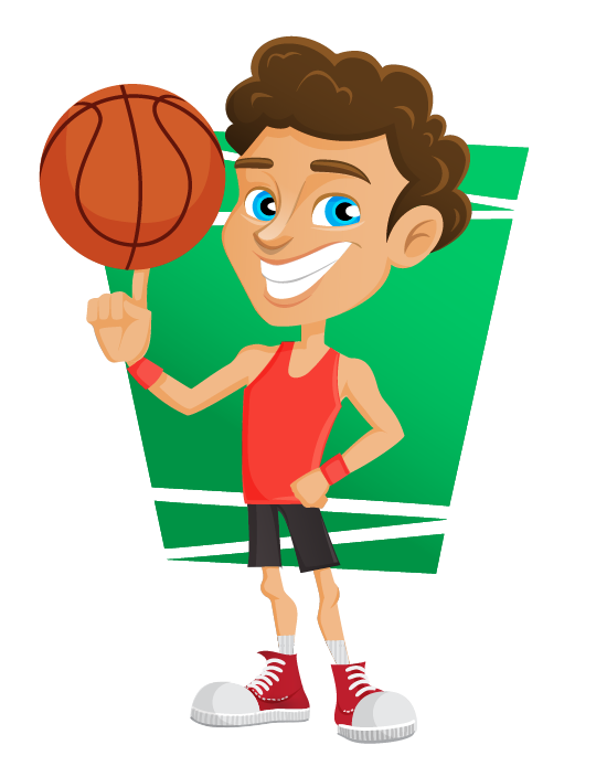 vector transparent stock basketball clip player #109807104
