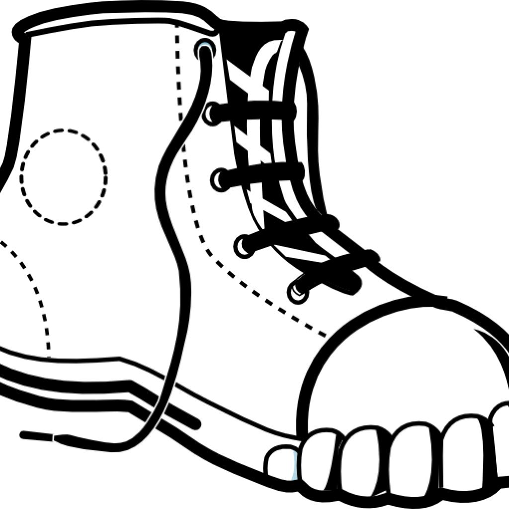 banner  collection of nike. Drawing sneakers clipart