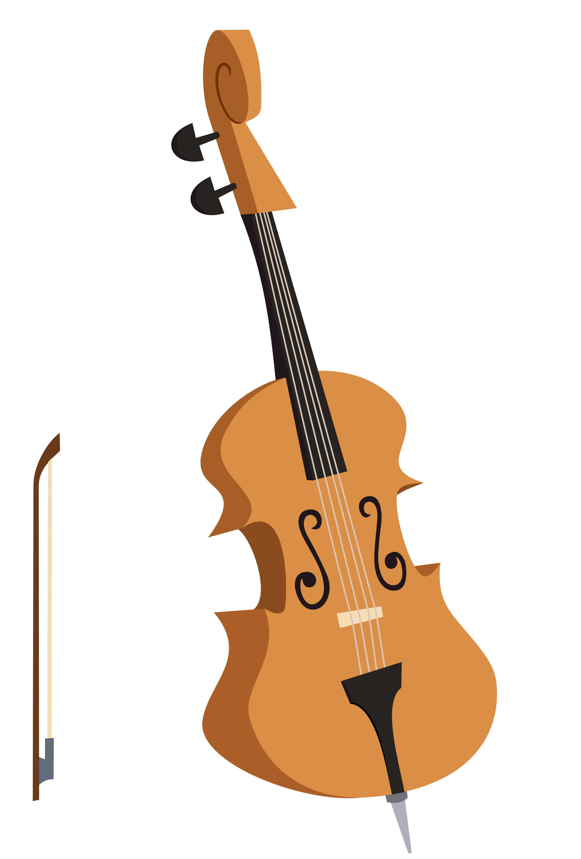 clipart freeuse library Octavia s or double. Bass clipart cello.