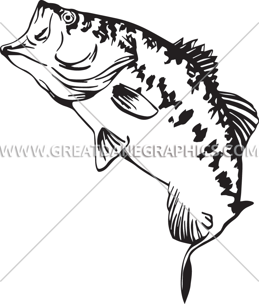 clipart black and white library Bass svg big mouth. Large drawing at getdrawings