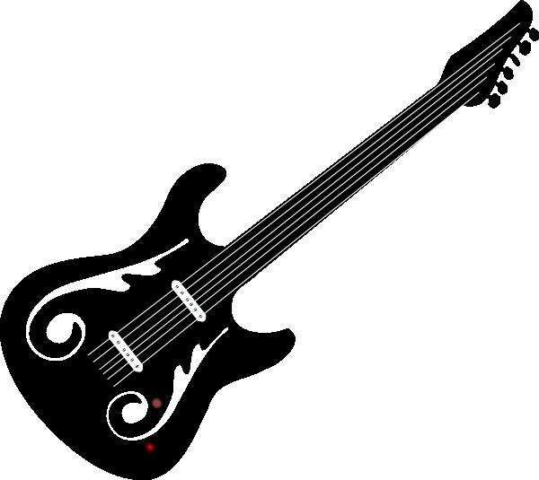 svg stock Guitar clipart black and white. Bass panda free guitarclipartblackandwhite