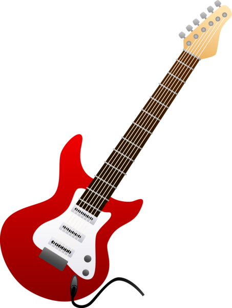image black and white library Bass Guitar Clipart