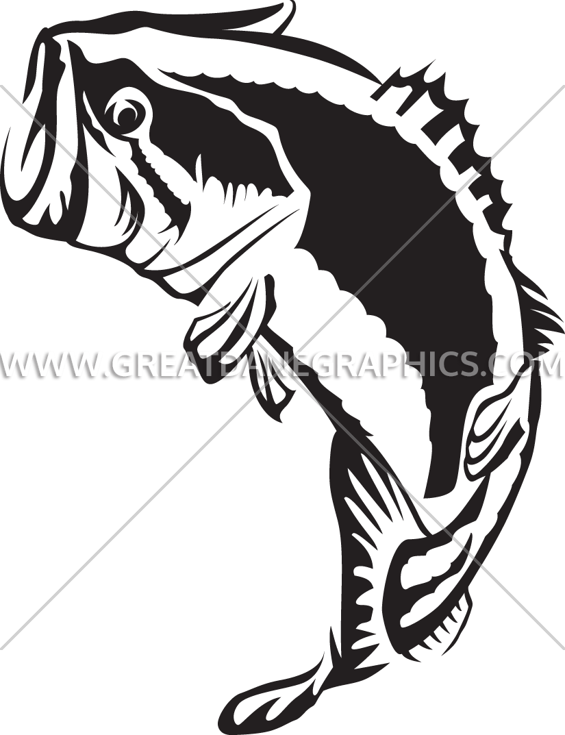 clip royalty free download Bass svg largemouth. Large mouth jumping production