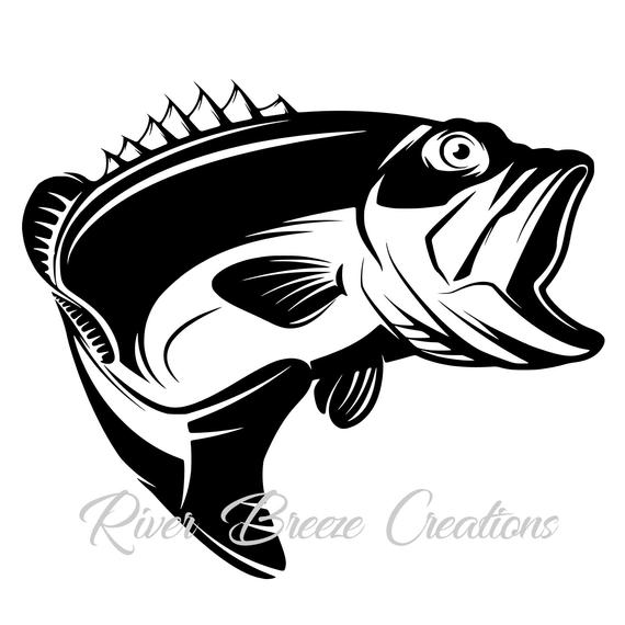 graphic library download Bass svg. Fish silhouette cricut large