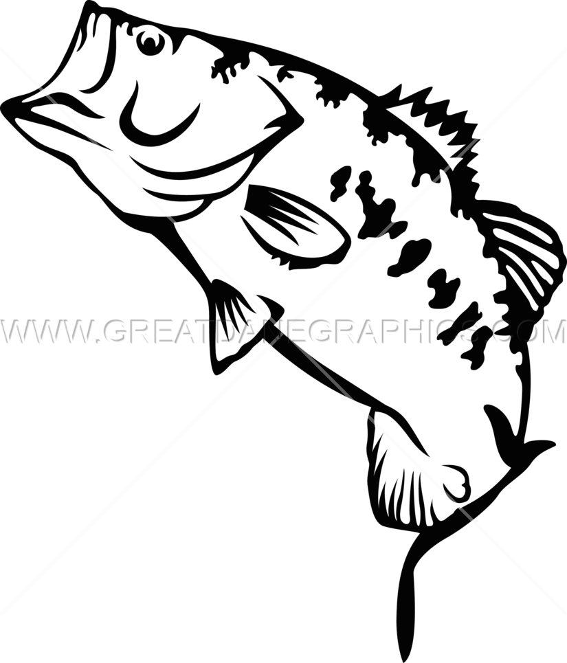 vector transparent stock Large production ready artwork. Bass svg big mouth