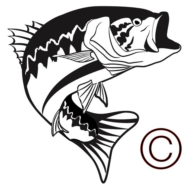 picture freeuse download Large vinyl decals fish. Bass svg big mouth