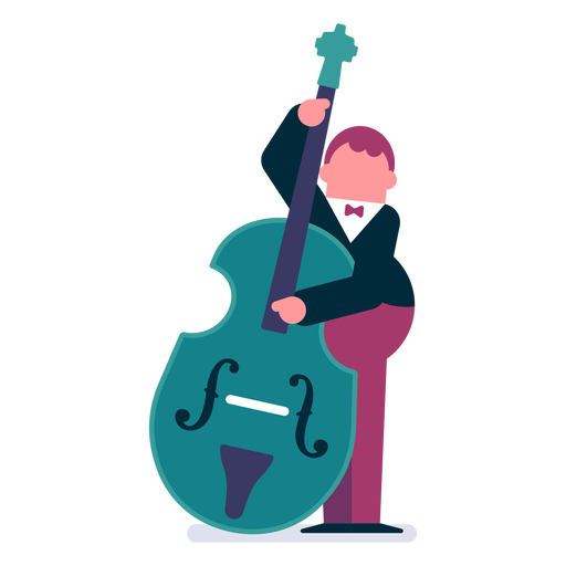 graphic free library Bass svg cartoon. Orchestra double player transparent