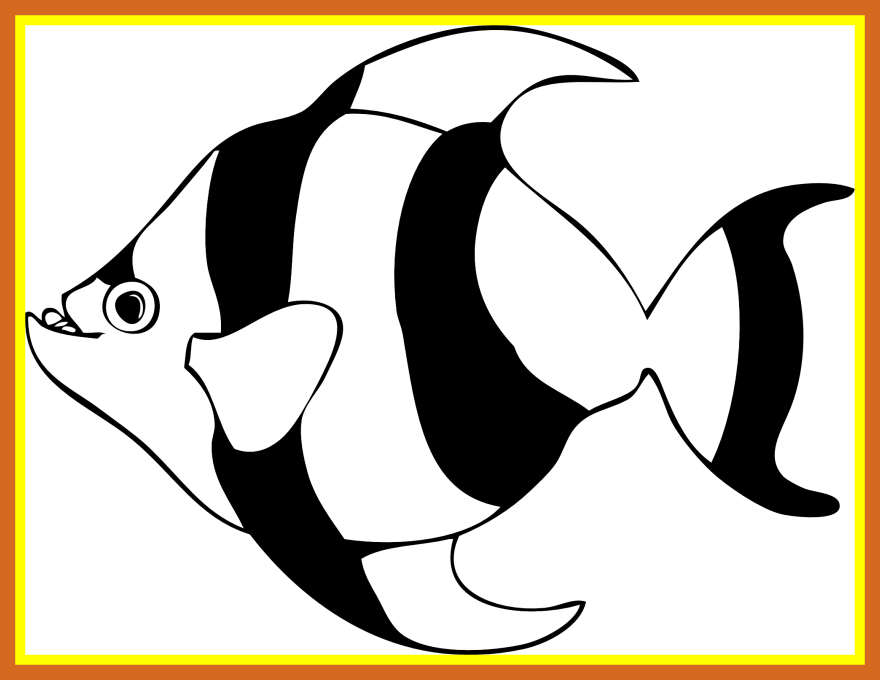 image transparent Fish clip art library. Bass svg coloring page
