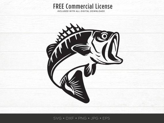 clip royalty free Bass svg largemouth. Fishing fish sea cut